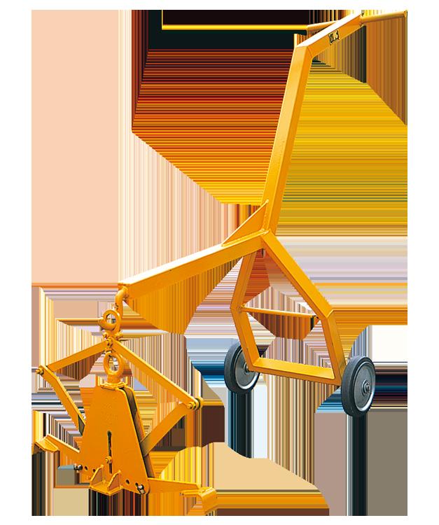 CU-X-T型 コンクリート溝ぶた吊クランプ(運搬車セット)200KG